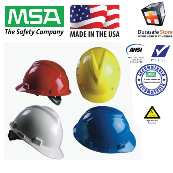 MSA Safety Helmet Fas-Trac III Suspension, PSB Approved