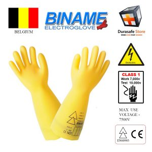gang-tay-cach-dien-BINAME-ELS-Electro-Rubber-Insulating-Glove-Class-1-Work-7500V-Test-10000V-360mm-Size-910-Belgium