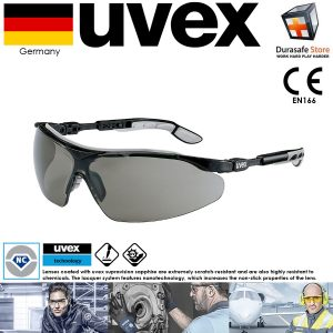 Kinh-bao-ho-an-toan-UVEX-9160076-I-VO-Safety-Glasses-Grey-Black-Frame-Grey-Supravision-Sapphire-Len