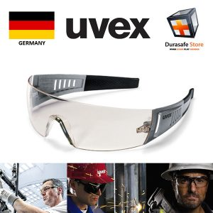 Kinh-bao-ho-an-toan-UVEX-9210085-Racer-CT-Carbon-Safety-Glasses-Silver-Black-Frame-Clear-Ultradura-Lens