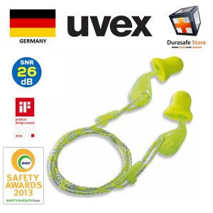 UVEX-2124001-Xact-Fit-Disposable-Corded-Earplug-26dB-1-box50-pairs-Can-Sell-in-Pai