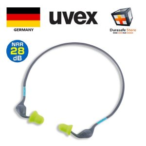 UVEX-2125362-Xact-Band-Earlug-28dB-Grey-Sky-Blue-Lime-Sell-per-pair.