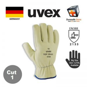 UVEX-60291-TOP-Grade-8400-Full-Grain-Leather-Glove-Beige-27cm-Safety-Gloves