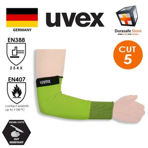 UVEX-60491-Helix-C5-Sleeve-with-Velcro-Fastening-Lime-40cm-Size-ML-@Pc