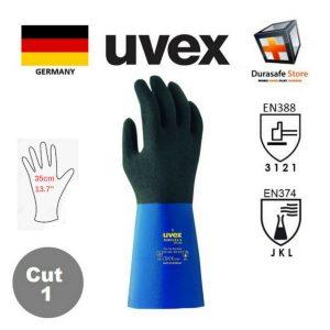 UVEX-60557-Rubiflex-S-XG35B-NBR-Glove-Blue-Black-35cm-Size-8910