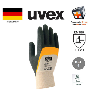 UVEX-60558-Profi-XG-NBR-Coated-Cotton-Glove-Orange-Black-27cm-Size-78910
