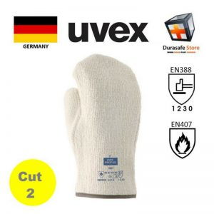 UVEX-60912-Profatherm-XB27-250ºC-Heat-Resistant-Terry-Mitt-White-27cm-Safety-Gloves