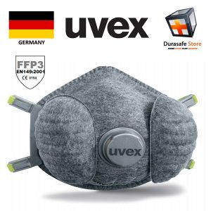 UVEX-8707330-Silv-Air-7330-FFP3-High-Performance-Odour-Free-Valved-Soft-Seal-Cup-Respirator-x-3