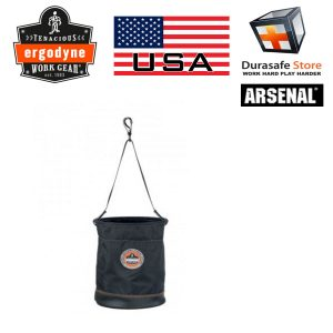 ERGODYNE-5630T-Arsenal-Leather-Bottom-Bucket-with-Top-Cover-Black.