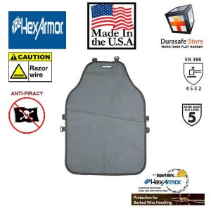 Hexarmor-AP229-Cut-Puncture-Resistant-Medium-Weight-Single-Layer-Protective-Apron-20″-x-30″-Gray