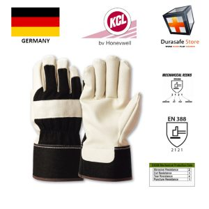 """KCL-–-GERMANY-301-Man-At-Work-Rigger-Glove-with-Safety-Cuff-Glove-Black-Yellow-10½""""-Size-910"""
