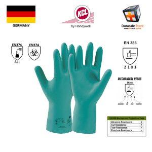 KCL-–-GERMANY-730-Camatril-Chemical-Resistant-Nitrile-Glove-Green-12″-Size-891011
