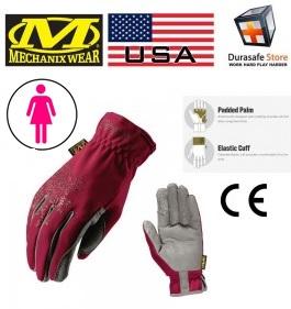 MECHANIX H17-12 Women's Utility Glove Maroon Size M, L