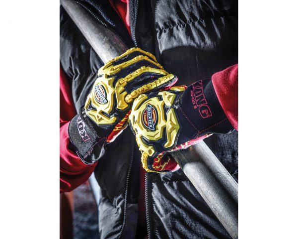 DICKIES GL01HD Heavy Duty Impact Glove Red, Size M-XXL