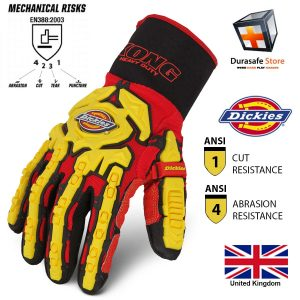 DICKIES-GL01HD-Heavy-Duty-Impact-Glove-Red-Size-M-XXL