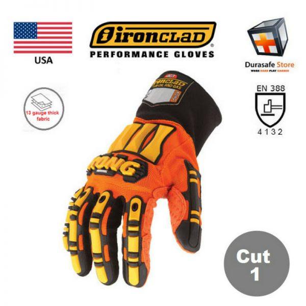 IRONCLAD Kong Original Impact & Slip Resistant Mechanics Glove Orange, USA, Size S – 3XL