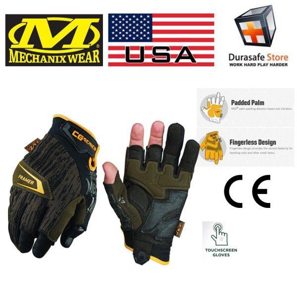 MECHANIX CG4F-29 CG4x Framer Fingerless Glove Brown