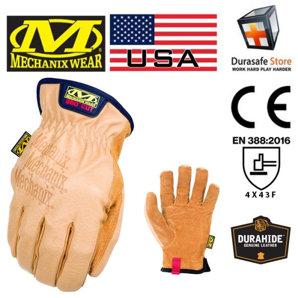 MECHANIX LD-C75 DuraHide Leather Driver F9-360 Glove Tan Size L