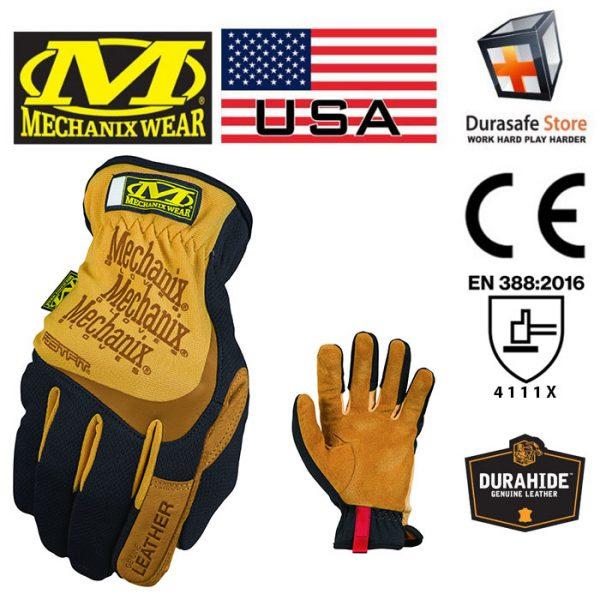 MECHANIX LFF-75 DuraHide Leather FastFit Glove Tan Size L