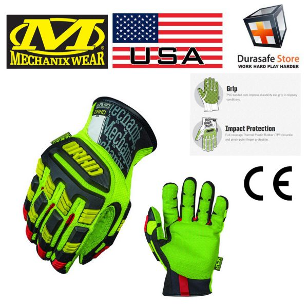 MECHANIX ORHD-91 Oil & Gas Impact Resistant Glove Hi-Viz Yellow
