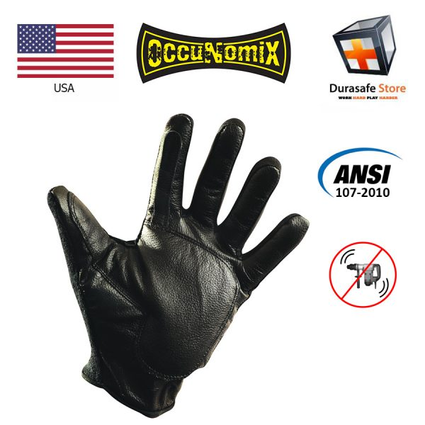 OCCUNOMIX 426 Full Finger Anti-Vibration Leather Gel Glove Size L, XL 1