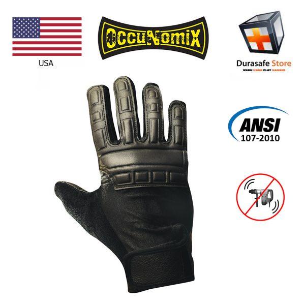 OCCUNOMIX 426 Full Finger Anti-Vibration Leather Gel Glove Size L, XL