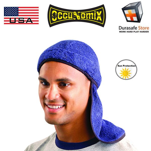 OCCUNOMIX 892 Cotton Terry Toppers Summer Liner with Neck Shade Navy