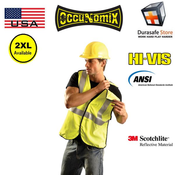 OCCUNOMIX ECO-GCB 5-Points Breakaway High Visibility Mesh Vest Yellow