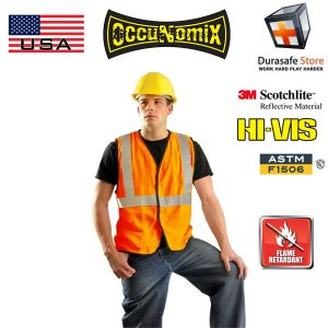 OCCUNOMIX-LUX-SSCOOL2-Premium-Two-Tone-High-Visibility-Cool-Mesh-Vest-Yellow-Size-M-L-XL