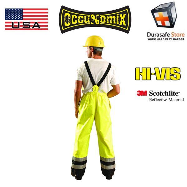 Occunomix-LUX-TENBIB-high-Visibilty-Rainwear-Bib-Pants 1