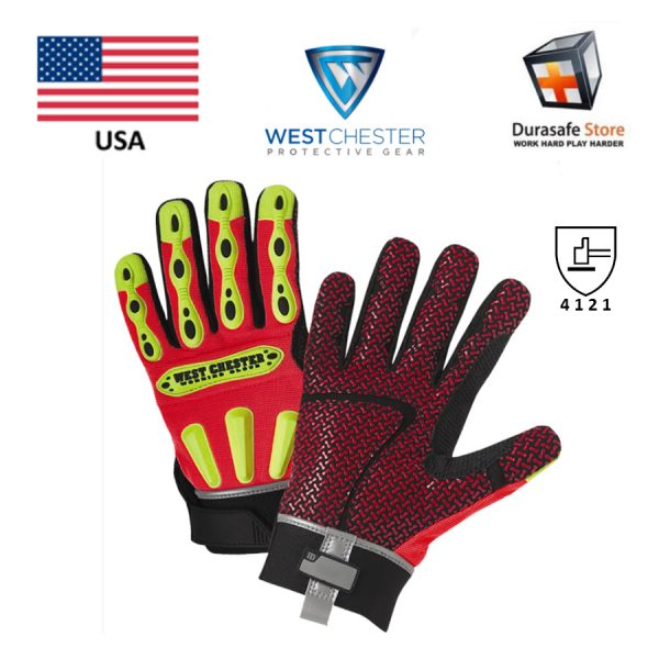 WEST CHESTER 86713 R2 Safety Rigger Glove Orange, USA, Size S – 2XL 2