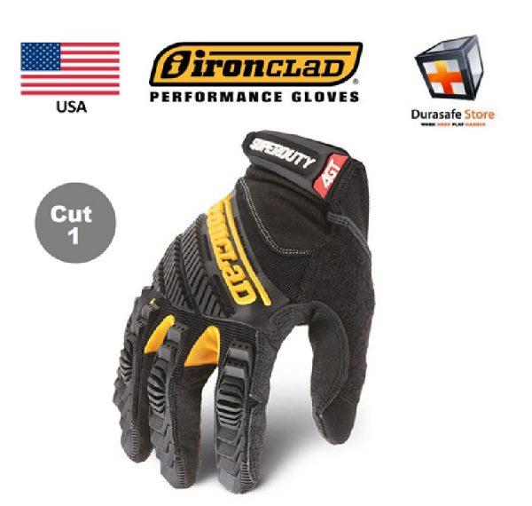 IRONCLAD SDG2 Super Duty Abrasion Impact Resistant Glove Black