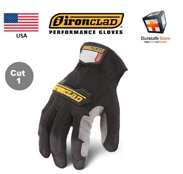 IRONCLAD WFG Workforce All Purpose Use Glove Black, M-XL, USA