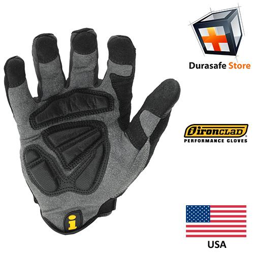IRONCLAD WWI Vibration Impact 100% Silicone Gel Palm Pads Glove Black 2