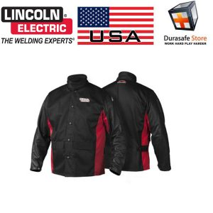 Lincoln-Electric-K2987-Shadow-Grain-Leather-Sleeved-FR-100-Cotton-Welding-Jacket.