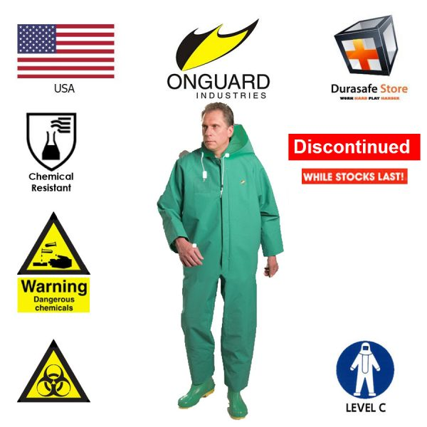 ONGUARD 71022 Chemtex Level C Chemical Resistance PVC Coverall Green
