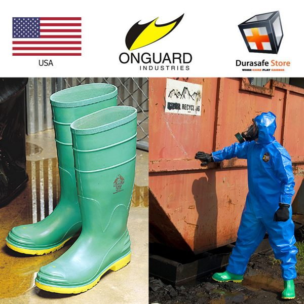 ONGUARD 87012 16″ Hazmax Chemical Resistance PVC Kneeboot Green Size 7-13 1