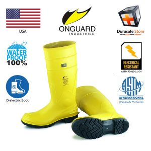 ONGUARD-88722-16″-Dielectric-II-14000-volts-Steel-Toe-PVC-Kneeboot-Yellow-Size-6-11