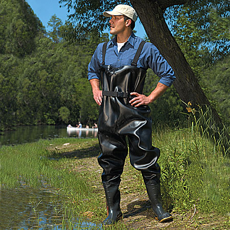 Onguard 86067 56″ Steel Toe PVC Chest Wader Black Size 7 – 12 1