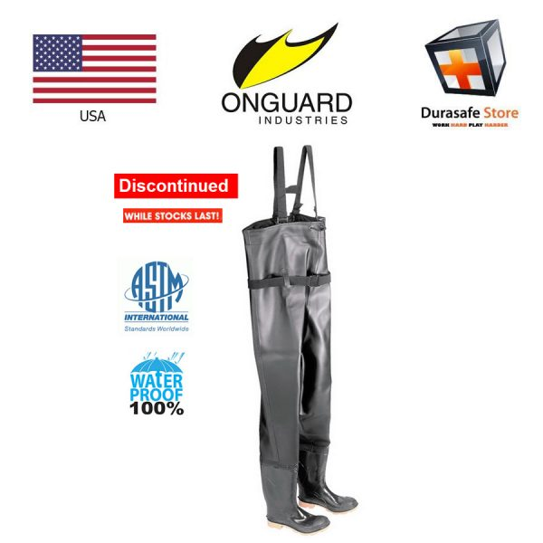 Onguard 86067 56″ Steel Toe PVC Chest Wader Black Size 7 – 12