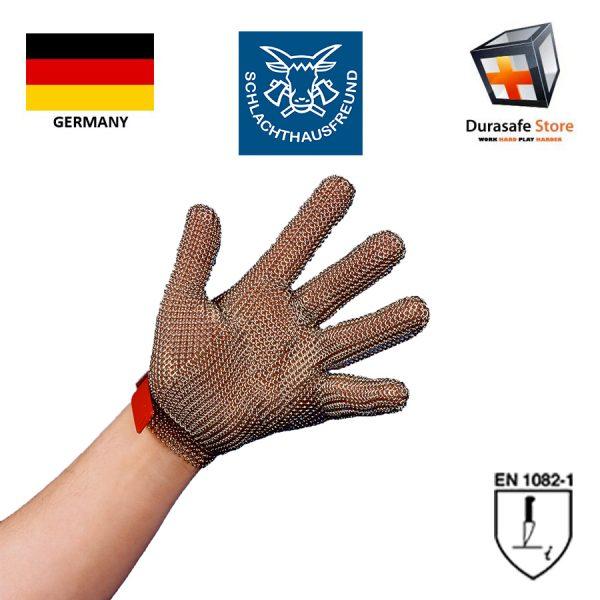 SCHLACHTHAUSFREUND PROTEC Stainless Steel Chainmesh Glove Size