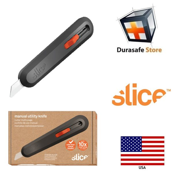 Slice 10550 5 Position Manual Locking Blade Safe Ceramic Blade Utility Knife (1 Pack) Orange 2