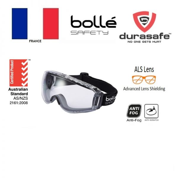 BOLLE 1689110 Pilot 2 Safety Goggle