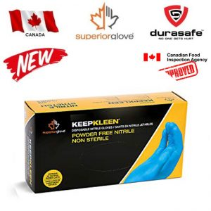 Superior RDCNPF KeepKleen® Blue 4 Mil Powder-Free Disposable Nitrile Gloves